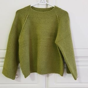 Green apple color knit sweater